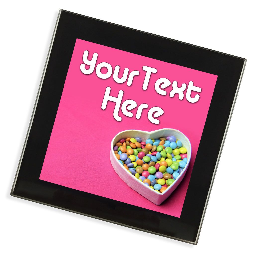 Personalised Glass Coaster | Smarties Heart