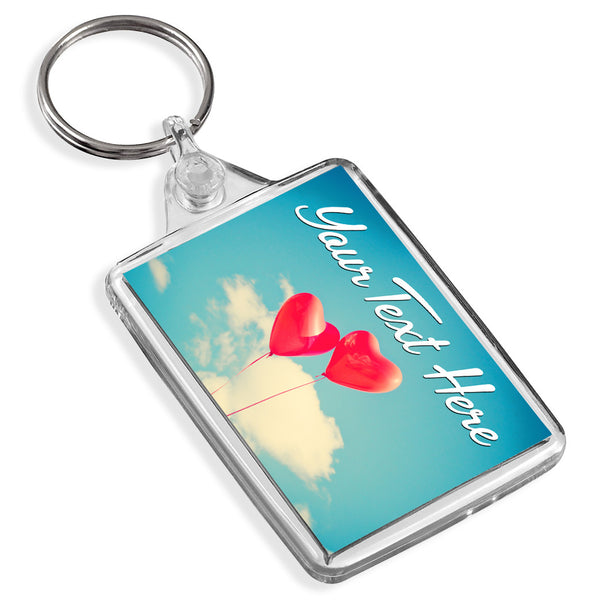 Personalised Keyring | Balloon Hearts