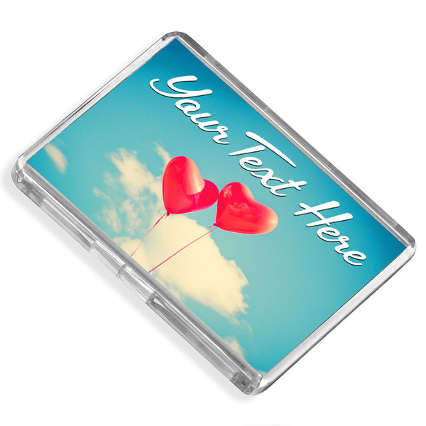 Personalised Fridge Magnet | Balloon Hearts