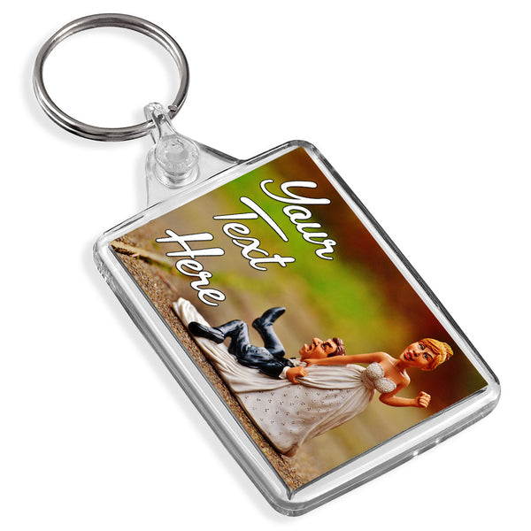 Personalised Keyring | Bride & Groom