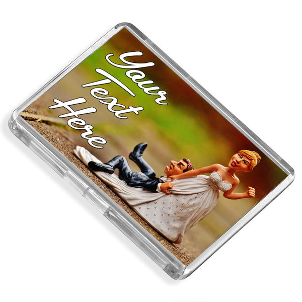 Personalised Fridge Magnet | Bride & Groom