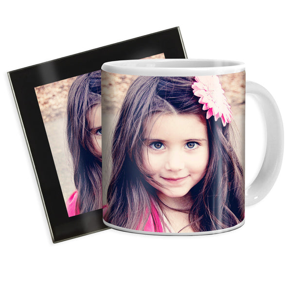 Personalised Mug & Glass Coaster | Gift Set