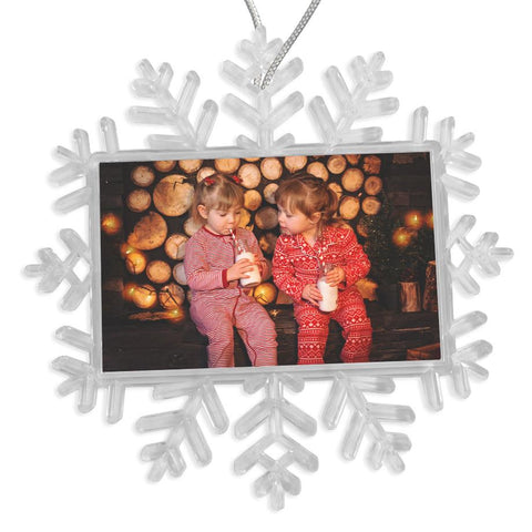 Personalised Snowflake Bauble | 70mm x 45mm