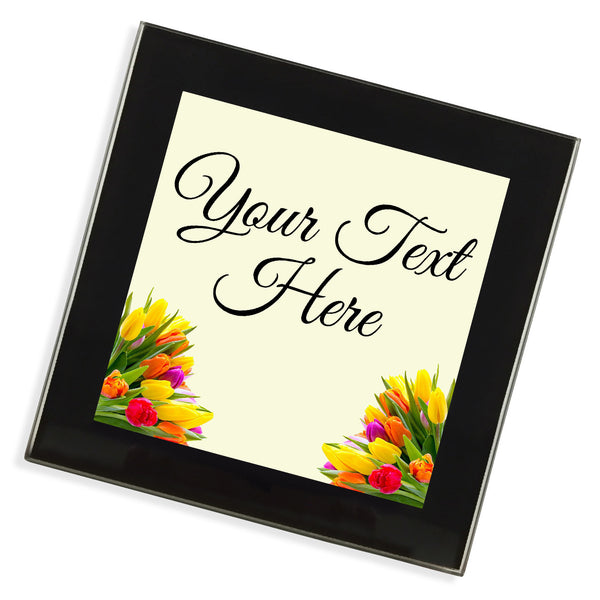 Personalised Glass Coaster | Flowers