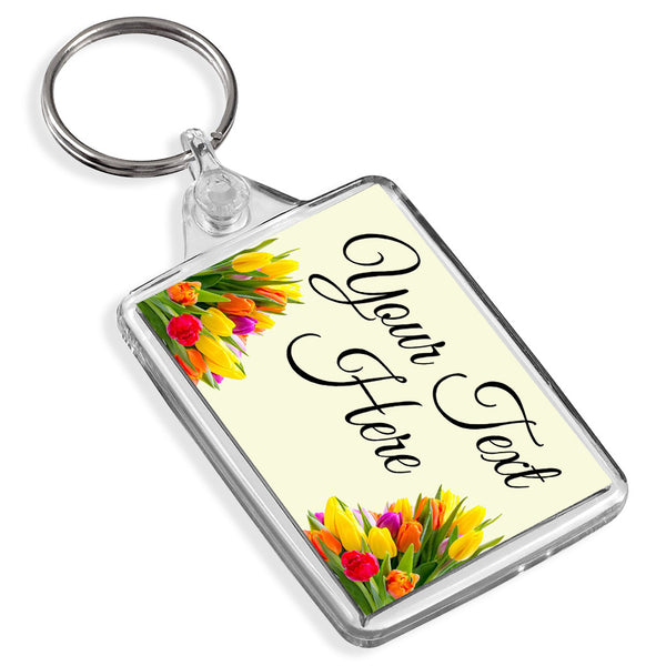 Personalised Keyring | Flowers