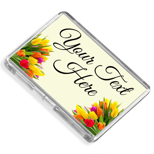 Personalised Fridge Magnet | Flowers
