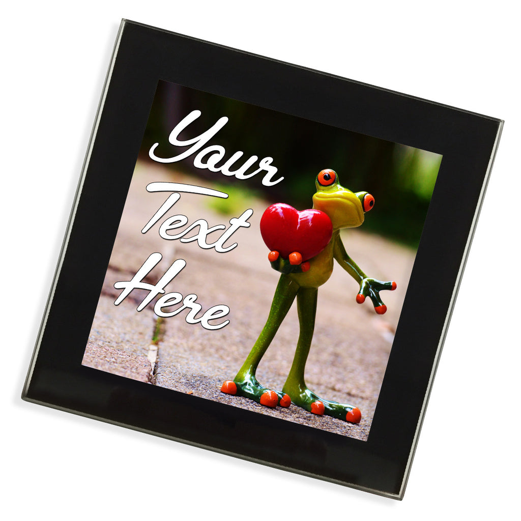 Personalised Glass Coaster | Frog