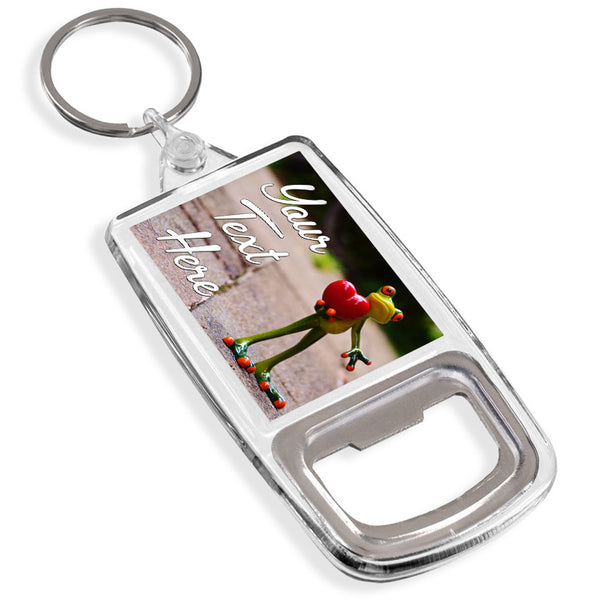 Personalised Bottle Opener Keyring | Frog