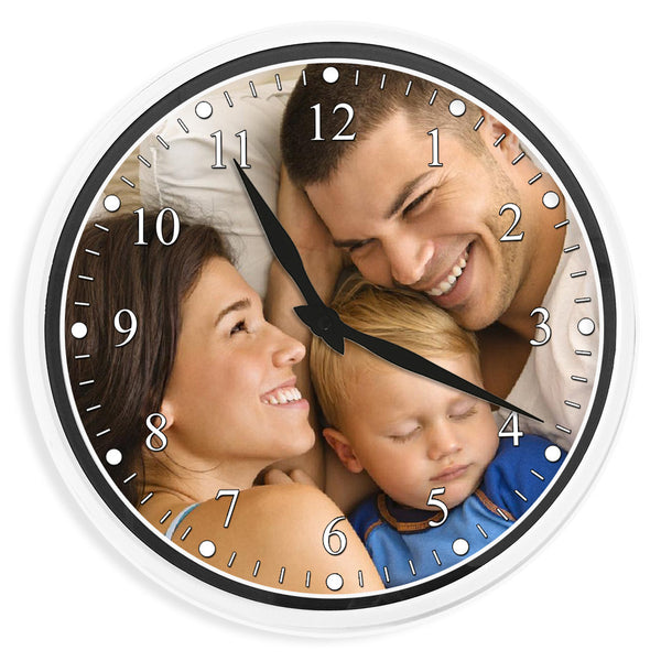 Personalised Photo Wall Clock | 35cm