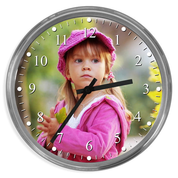 Personalised Photo Wall Clock | 32cm