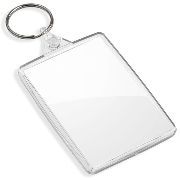 Blank Jumbo Keyrings | 73mm x 51mm