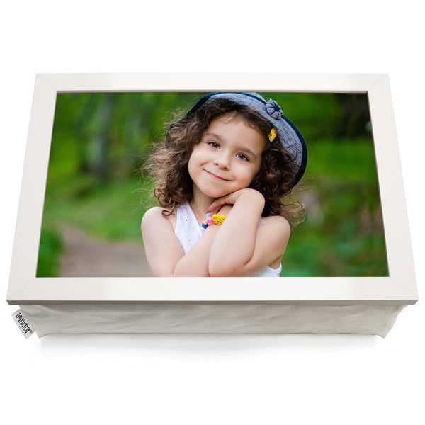 Personalised Photo Lap Tray | White Finish