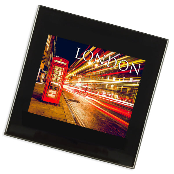 London Red Phone Box Glass Coaster | UK