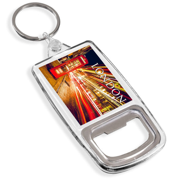 London Bottle Opener Keyring | UK