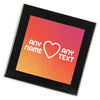 Personalised Glass Coaster | Heart