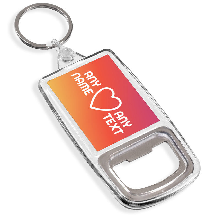 Personalised Bottle Opener Keyring | Heart