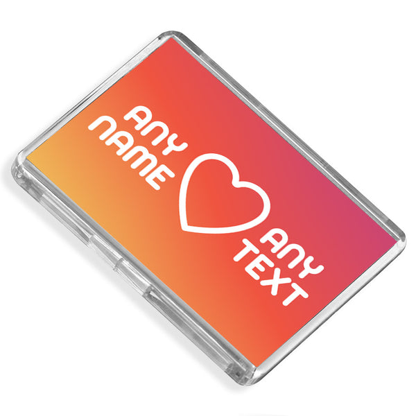 Personalised Fridge Magnet | Heart