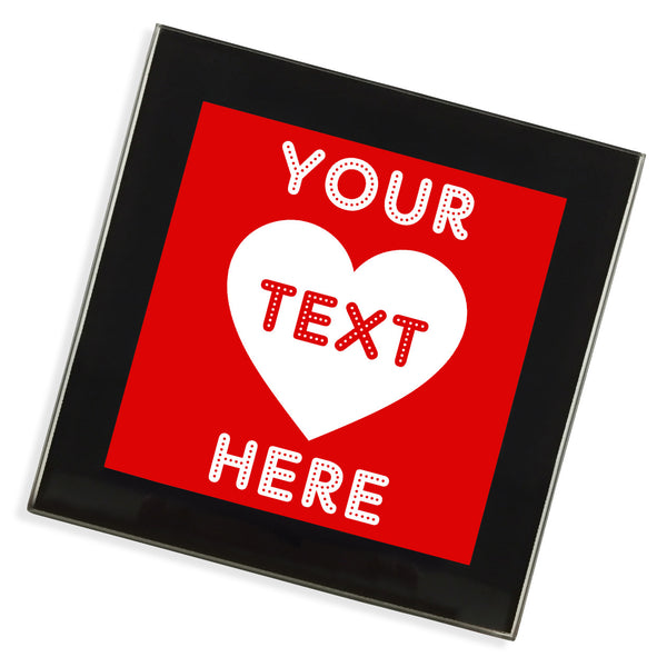 Personalised Glass Coaster | Love Heart