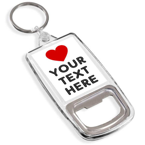 Personalised Bottle Opener Keyring | Love Heart