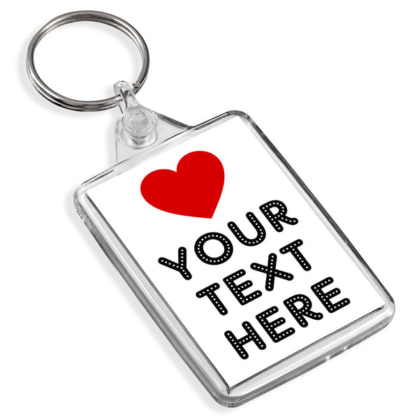 Personalised Keyring | Love Heart