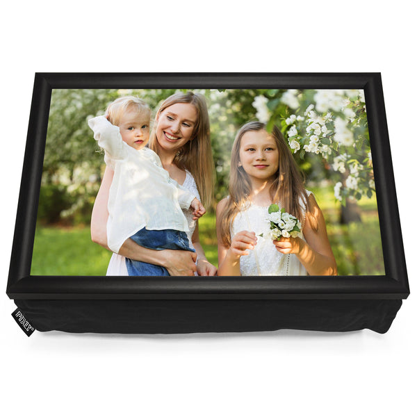 Personalised Photo Lap Tray | Black