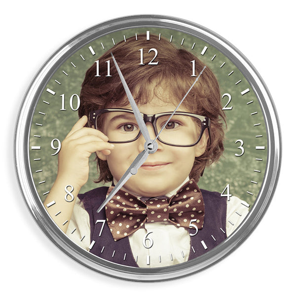 Personalised Photo Wall Clock | 31cm