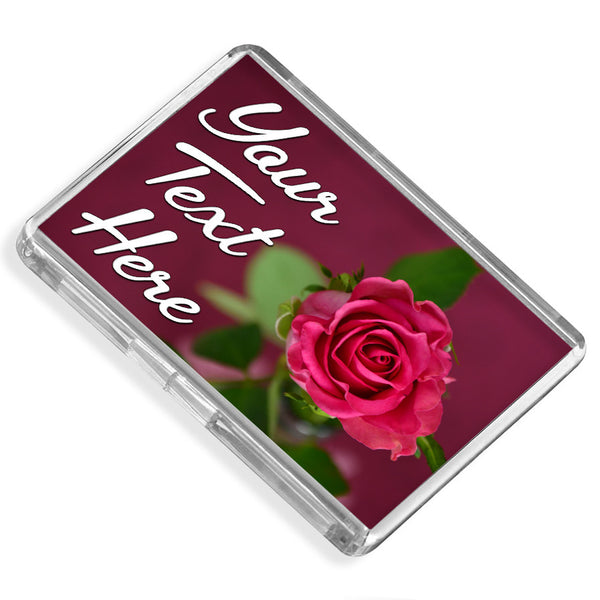 Personalised Fridge Magnet | Rose