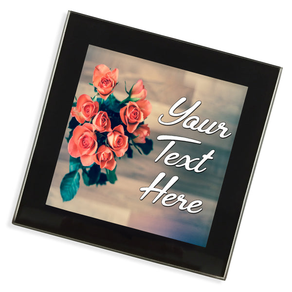 Personalised Glass Coaster | Roses