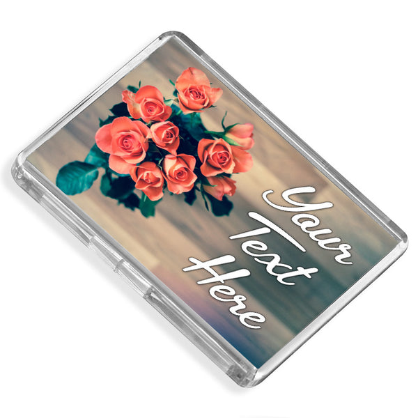 Personalised Fridge Magnet | Roses
