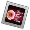 Personalised Glass Coaster | Rose