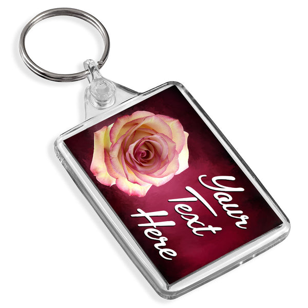 Personalised Keyring | Rose