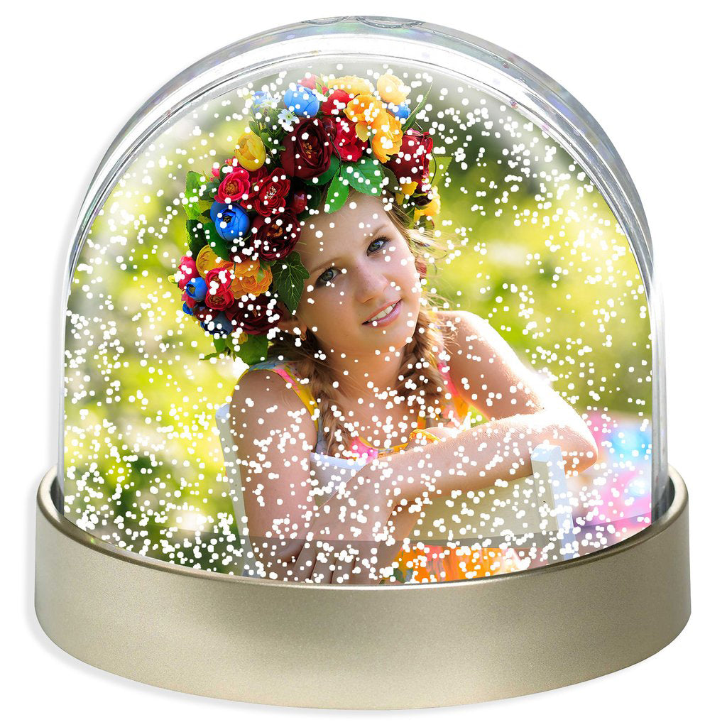 Personalised Photo Snow Dome | Metallic