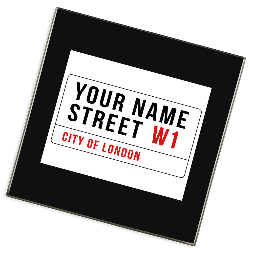 Personalised Glass Coaster | Your Street Name
