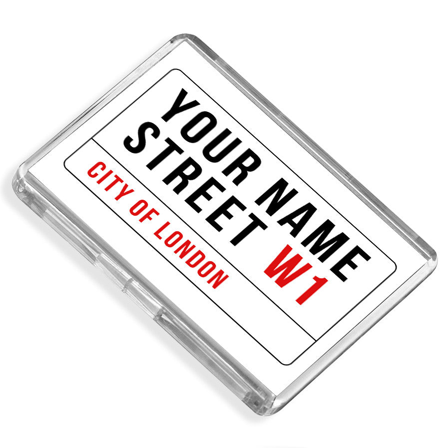 Personalised Fridge Magnet | Your Street Name