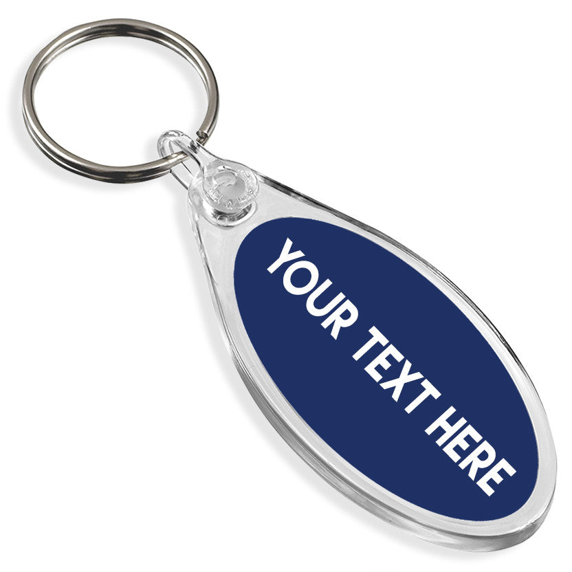 Personalised Text Keyring | Oval