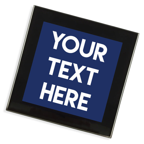 Personalised Text Glass Coaster | Black