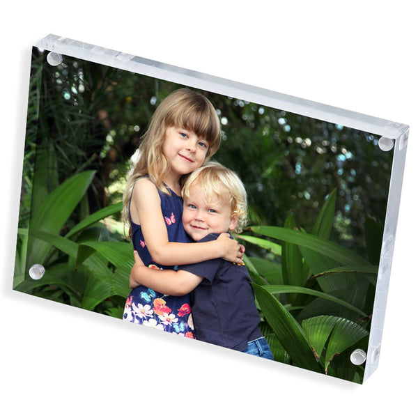 "Personalised Photo Block | Clear | 8"" x 6"""