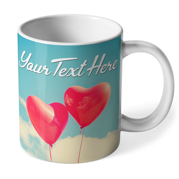 Personalised Ceramic Mug | Balloon Hearts