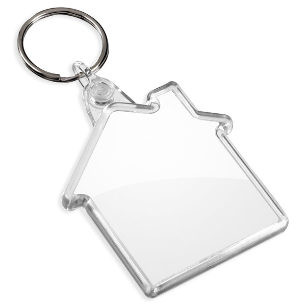 Blank House Keyrings | 50mm x 48mm