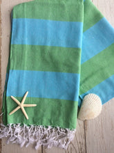 Striped Beach Blanket with fringe