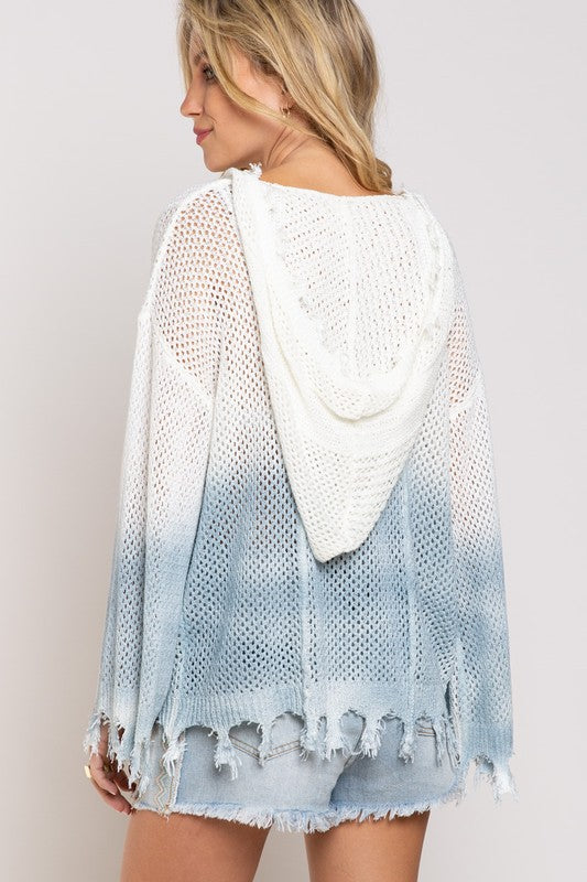 Ombre Knit Hoodie