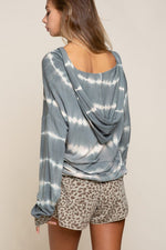 Hailey Striped Hooded Top