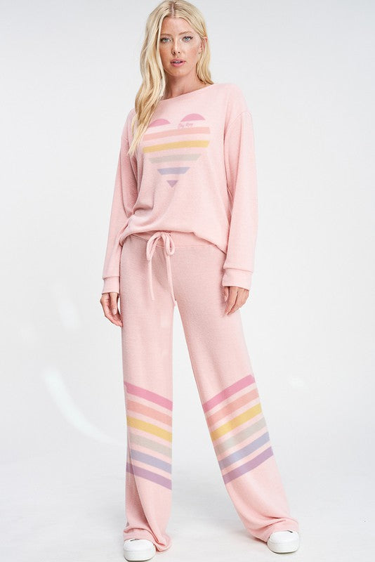 Heart + Stripe Lounge Set