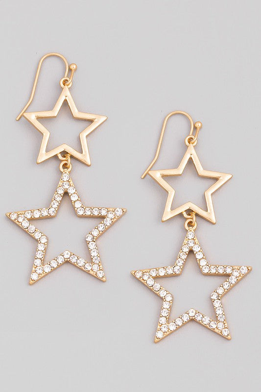 Lila Star Earrings