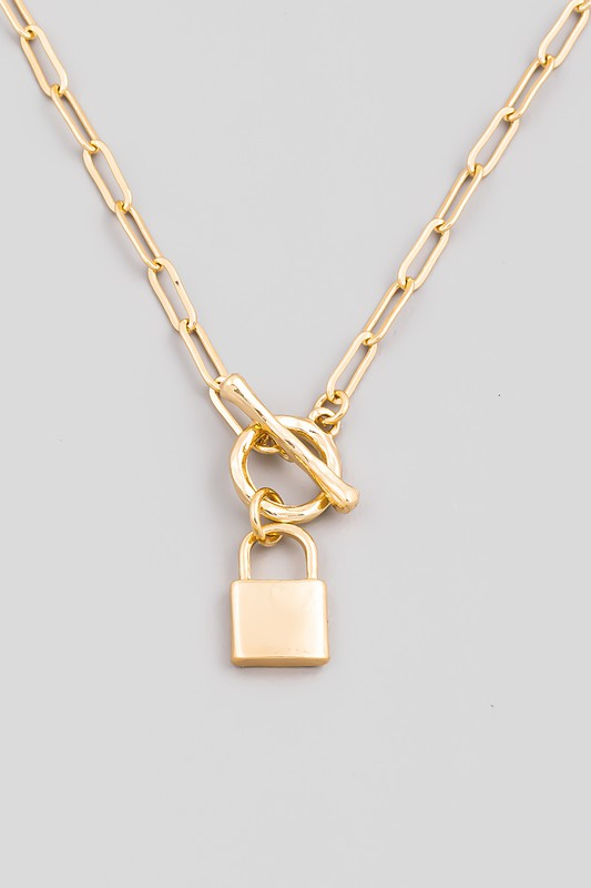 Ciera Chain Link Padlock Necklace