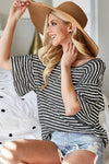 Sia Striped Knit Top