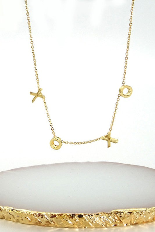 Gold XOXO Necklace