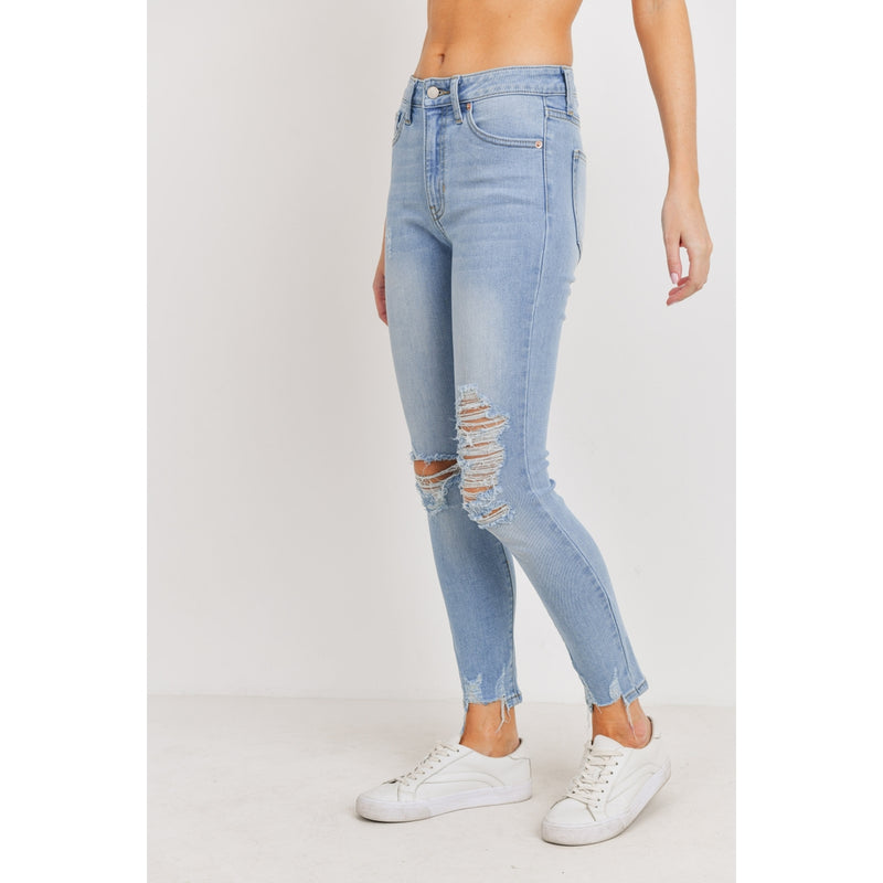 Luca Cropped Distressed Skinny