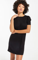 Kamryn Puff Sleeve Rib Dress
