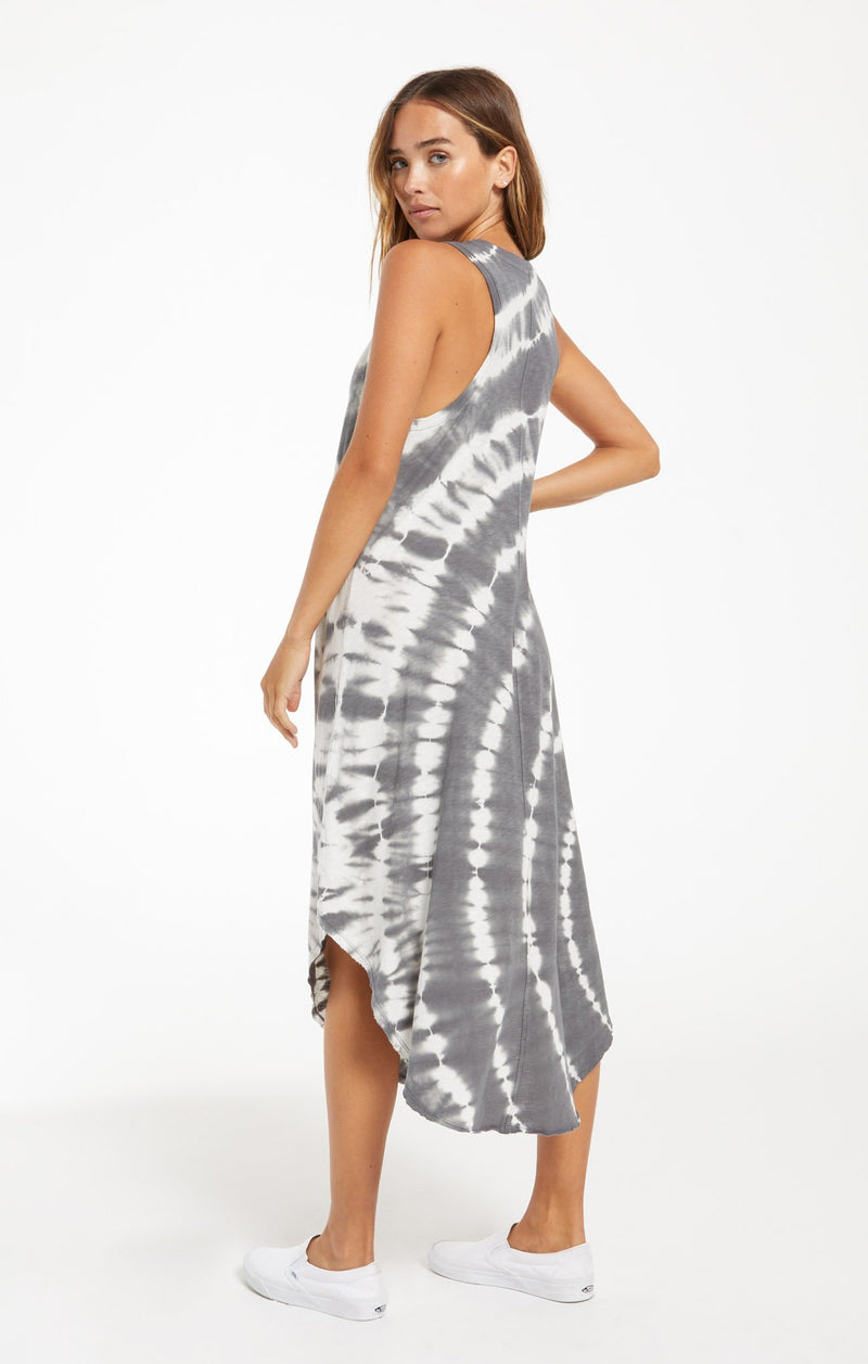 The Reverie Spiral Tie Dye Dress